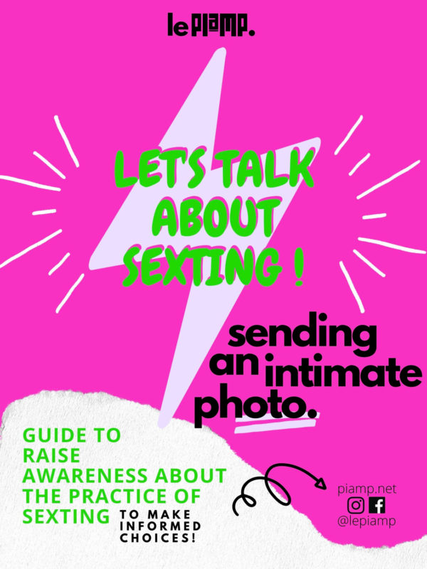 Let's talk about sexting! Sending an intimate photo.