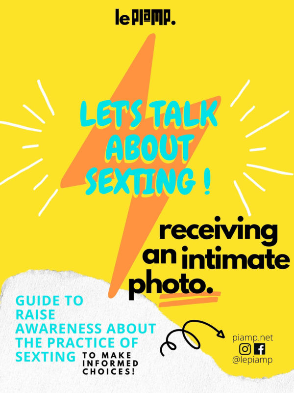 Let's talk about sexting! Receiving an intimate photo.